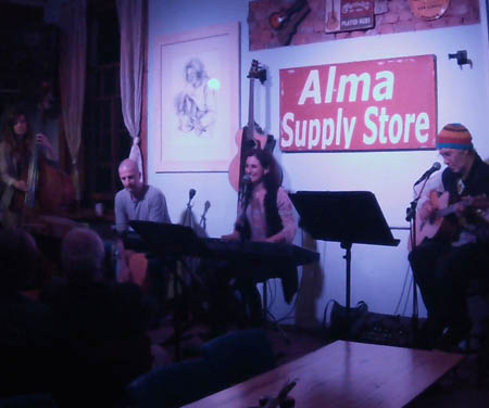 Alma Cafe, May 2014, with Dave, Romy and Heinrich