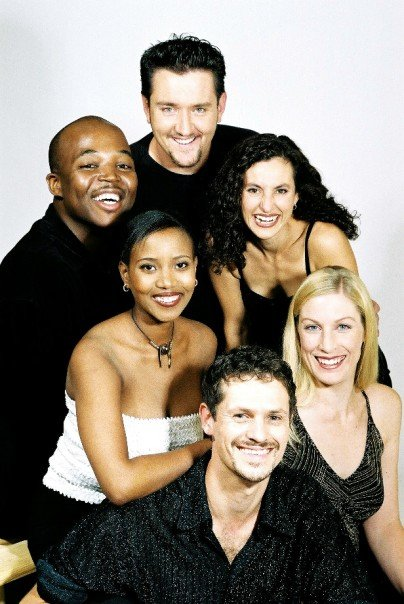 6 voices project, 2001, with Lynne Poulsen, Timothy Moloi, Lesego Motsepe, Adrian Poulsen, Susan Webster and Joe Niemand