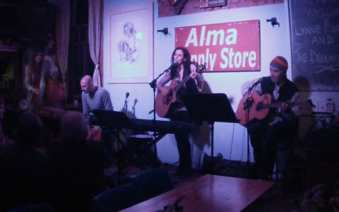 Alma Cafe, May 2014, with Dave Ledbetter, Romy Brauteseth and Heinrich Goosen